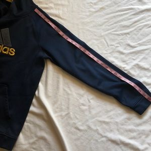adidas Shirts & Tops - Adidas Hoodie Youth Navy Yellow Pull Over Light